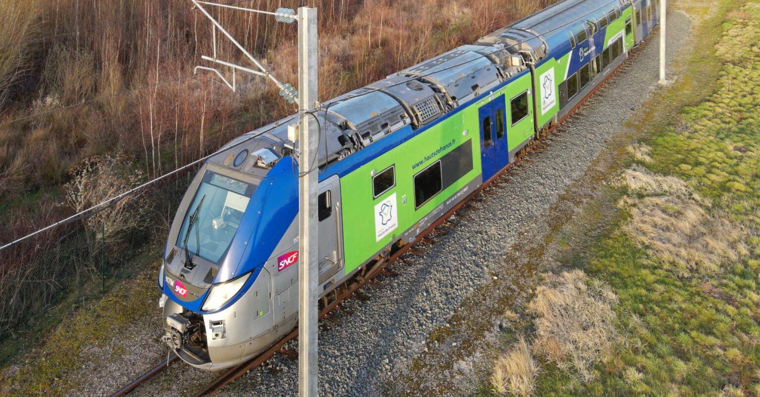 El primer tren regional autónomo durante las pruebas. ALSTOM.