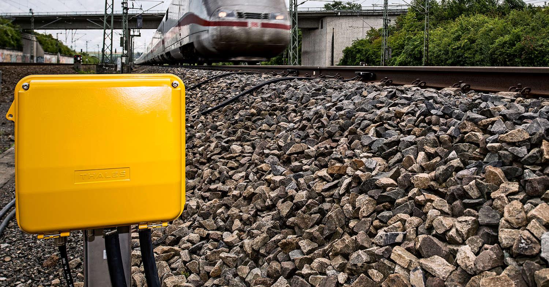 Equipo de señalización de Thales en una vía alemana. © THALES.