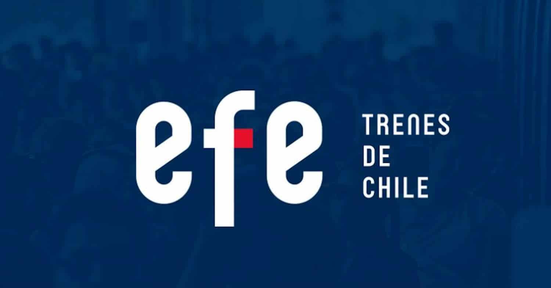 Nuevo logotipo de EFE Chile con el fondo oscuro
