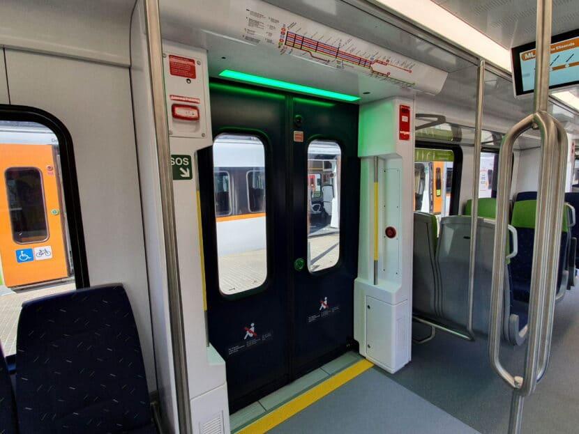 Zona de acceso a los trenes