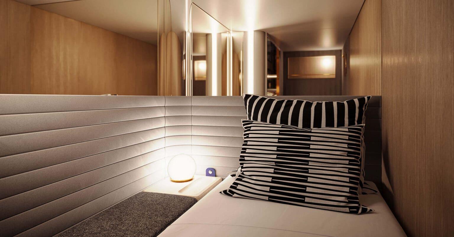 Diseño del interior de una de las habitaciones de Midnight Trains.