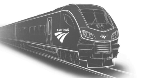 Boceto de los 73 trenes de la familia Venture comprados por Amtrak a Siemens