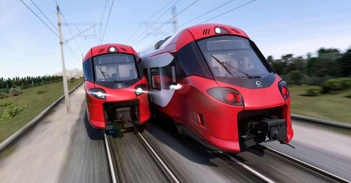 Diseño a ordenador de los nuevos trenes Coradia de Luxemburgo que funcionarán con ATO sobre ETCS. ALSTOM DESIGN AND STYLING