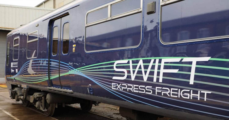 Imagen del Swift Express Freight tras salir de reforma. EVERSHOLT RAIL.
