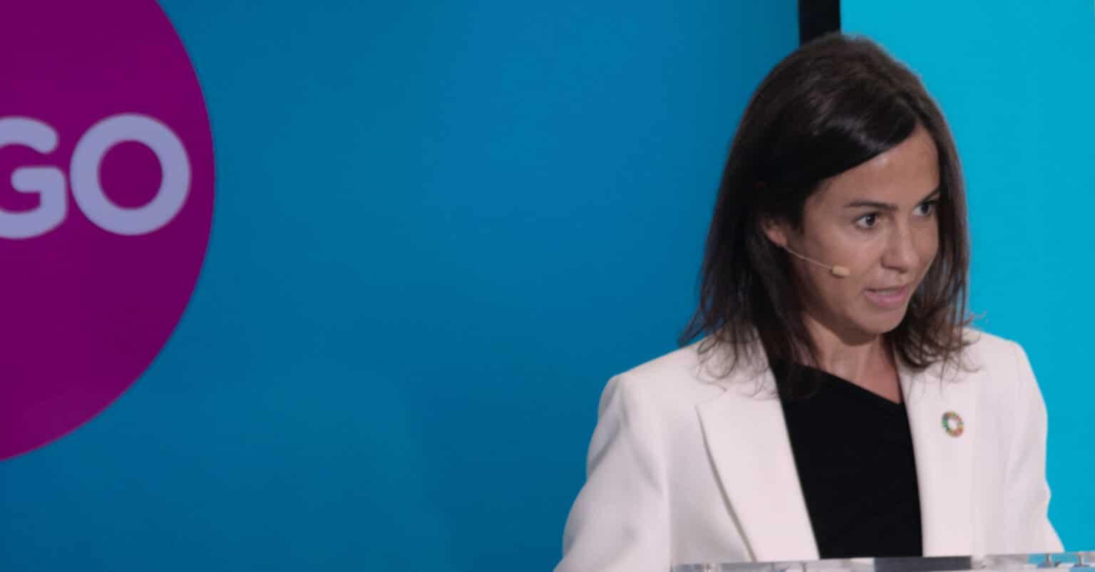 Isabel Pardo de Vera, nueva secretaria de Estado de Transportes, en la inauguración del Ouigo Madrid-Barcelona como presidenta de Adif. VÍCTOR CONTRERAS.