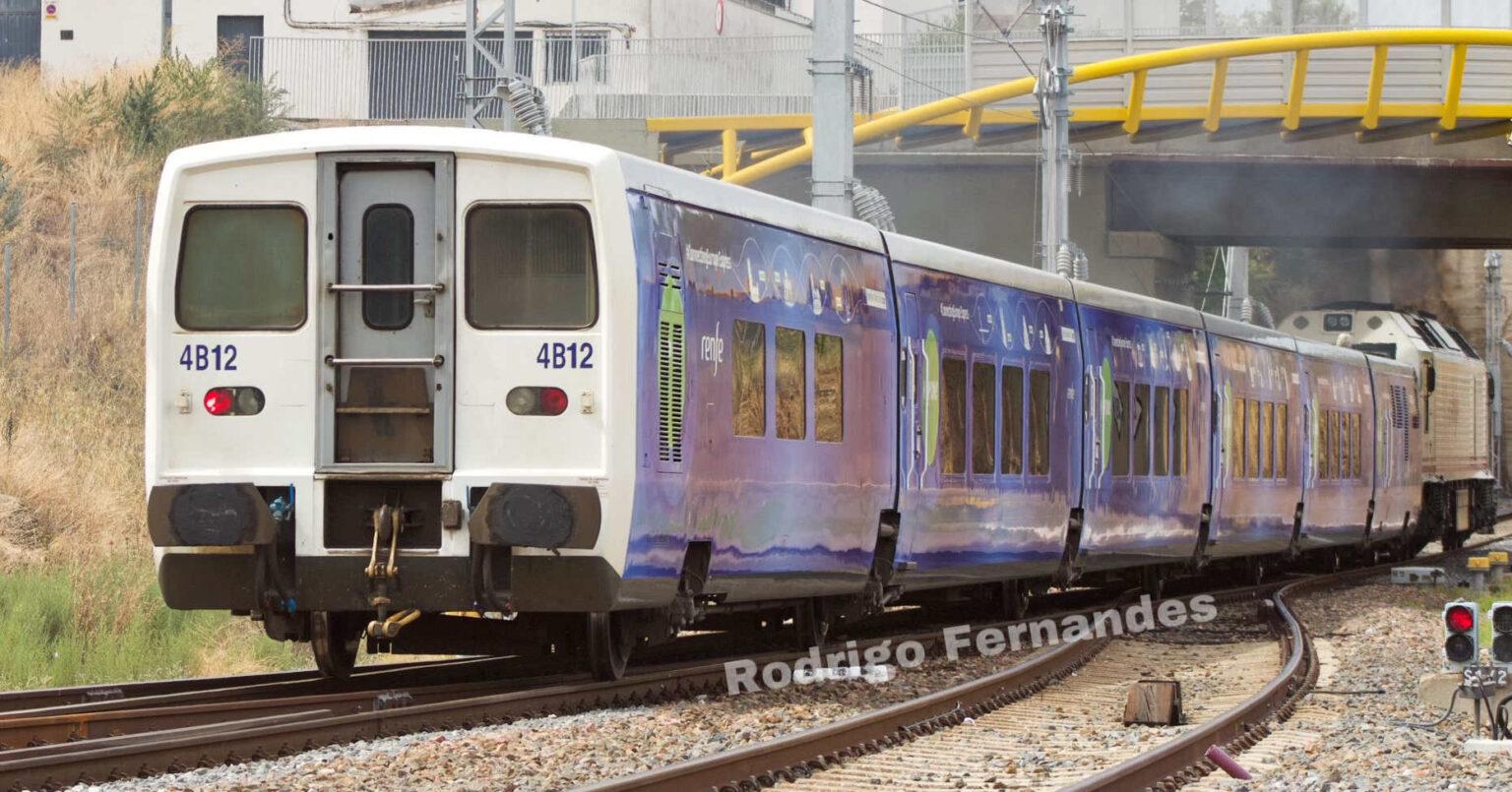 El tren Connecting Europe Express durante su traslado entre Las Matas y Lisboa. © RODRIGO FERNANDES