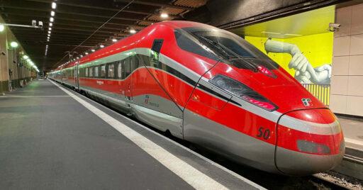 Frecciarossa Lyon-París estacionado en la Gare de Lyon de la capital francesa durante el primer viaje de prueba comercial. © ROBERTO RINAUDO.